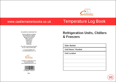Temperature Log Book (A5) T095