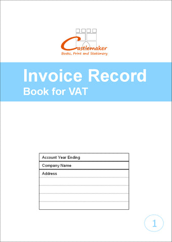 Invoice Record Book for VAT (A4) V001