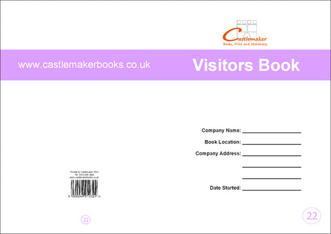 Visitors Book (A4) V022
