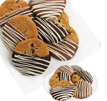 Load image into Gallery viewer, Belgian Dipped Chocolate Chip Cookies - Gift baskets by Amora