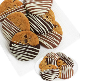 Belgian Dipped Chocolate Chip Cookies - Gift baskets by Amora