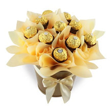 Load image into Gallery viewer, Ferrero chocolate Bouquet - Gift baskets by Amora