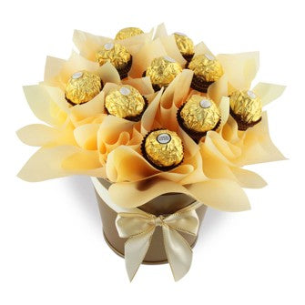 Ferrero chocolate Bouquet - Gift baskets by Amora