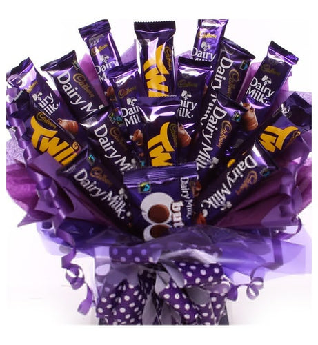 Cadbury Chocolate Bouquet - Gift baskets by Amora