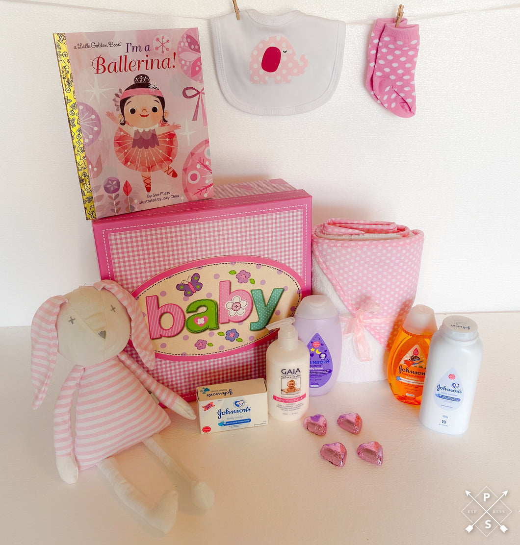 Delightful Baby Girl Gift Hamper - Gift baskets by Amora