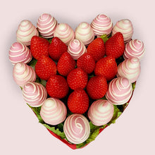 Load image into Gallery viewer, Pink Strawberries Heart - Gift baskets by Amora