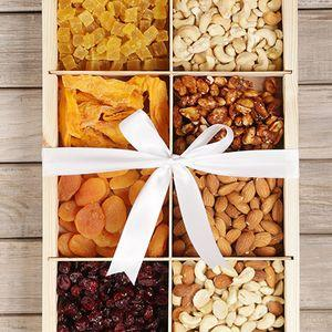 Crate Filled with Nuts and Fruit - Gift baskets by Amora