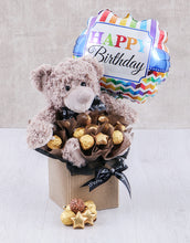 Load image into Gallery viewer, Balloon and Chocolate  Plush Toy Birthday - Gift baskets by Amora