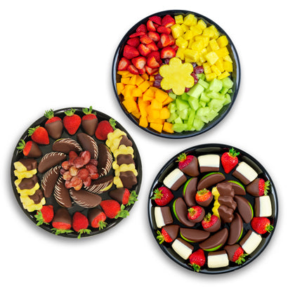 Party Fruit Platters Bundle Of 3 - Gift baskets by Amora