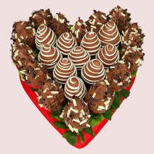 Load image into Gallery viewer, Chocolate Strawberries Love Heart - Gift baskets by Amora