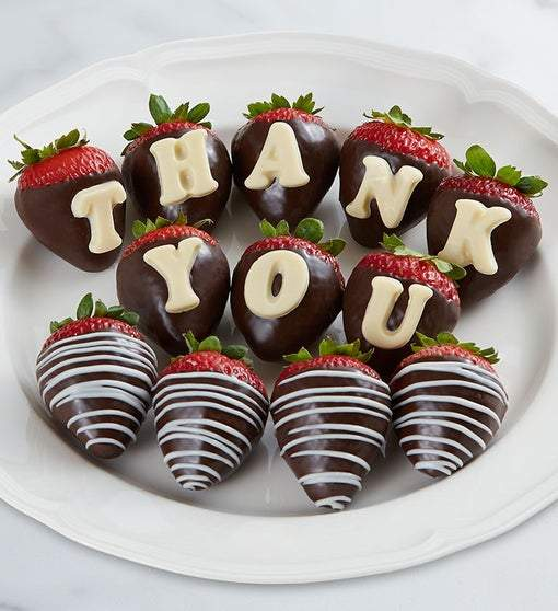 Thank You Chocolate Covered Strawberries Chocolate Gifts Gift Baskets By Amora