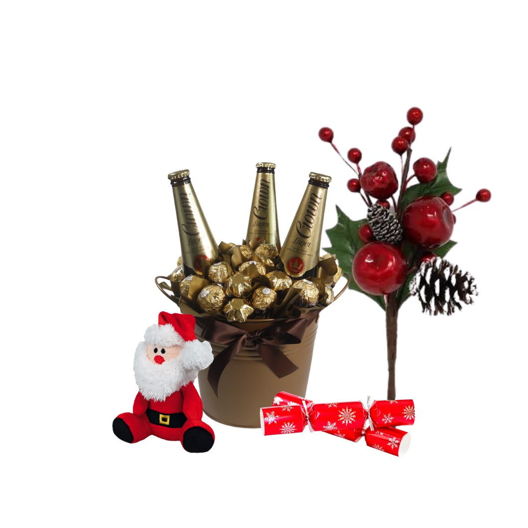Christmas Chocolate Bouquet and beers - Gift baskets by Amora