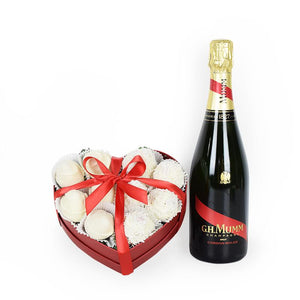 Champagne & Chocolate strawberries box - Gift baskets by Amora