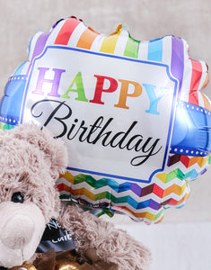 Balloon and Chocolate  Plush Toy Birthday - Gift baskets by Amora