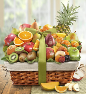 Deluxe Fruit Gift Basket - Gift baskets by Amora