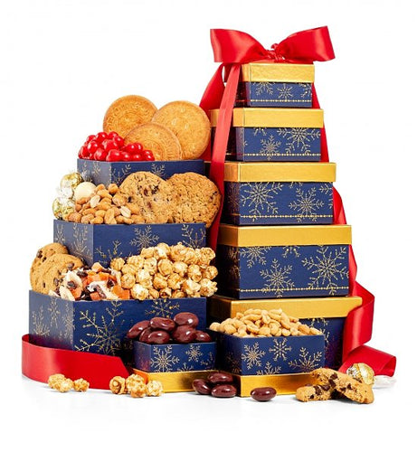 Cookies hamper Tower - Gift baskets by Amora