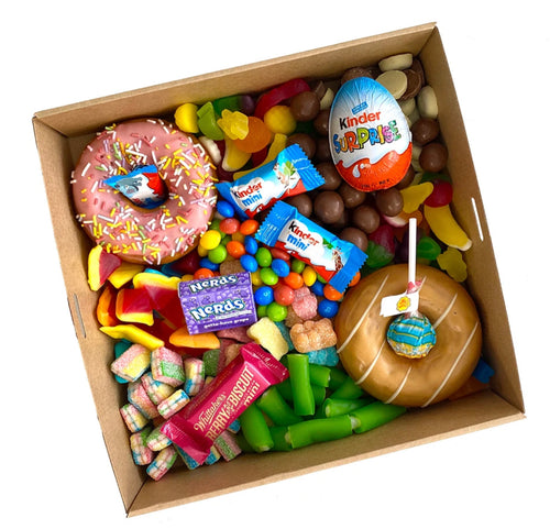 Little Donut hamper & Lollies - Gift baskets by Amora
