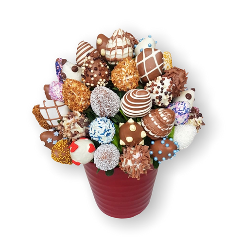 Berry Chocolate Strawberries Bouquet - Gift baskets by Amora