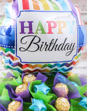 Load image into Gallery viewer, Happy Birthday Balloon Edible Arrangement - Gift baskets by Amora