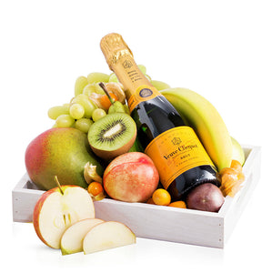 Fruit Tray with Veuve Clicquot - Gift baskets by Amora