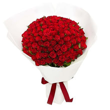 Load image into Gallery viewer, True Love - 99 Tea Red Roses - Gift baskets by Amora