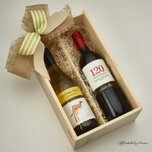 Load image into Gallery viewer, The Classic Wine Basket - Gift baskets by Amora