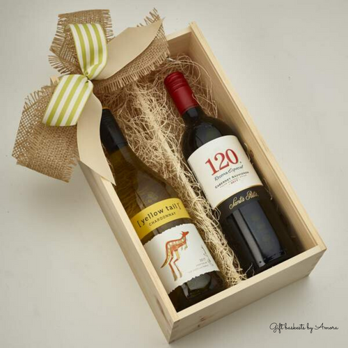 The Classic Wine Basket - Gift baskets by Amora