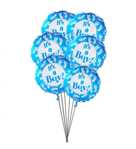 It's balloons for Boy(6 Mylar Balloons) - Gift baskets by Amora