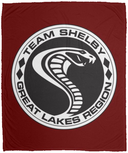 "Team Shelby Great Lakes Plush Fleece Blanket - 50""x60"""