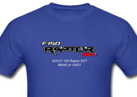 Personalized Raptor SVT T-Shirt - royal blue