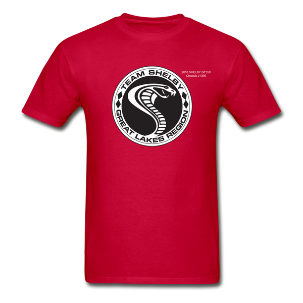 Personalized Team Shelby T-Shirt - red