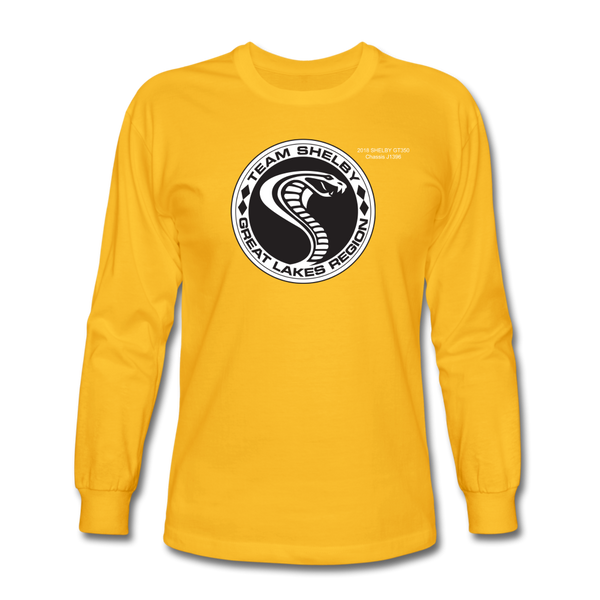 Personalized Team Shelby Circle Long Sleeve T-Shirt - gold
