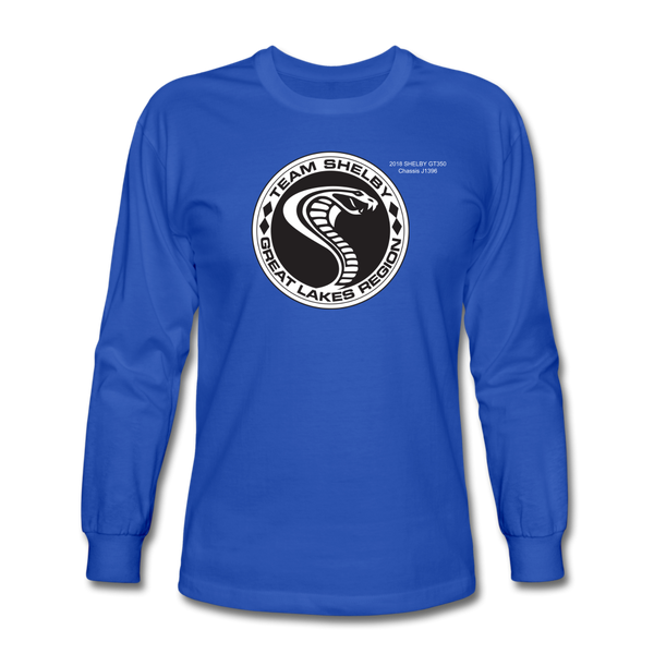Personalized Team Shelby Circle Long Sleeve T-Shirt - royal blue