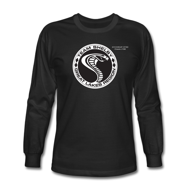 Personalized Team Shelby Circle Long Sleeve T-Shirt - black