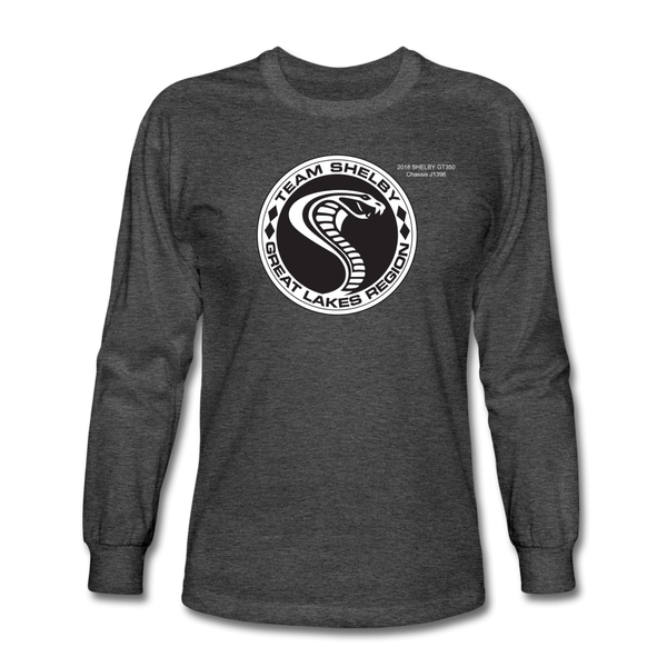 Personalized Team Shelby Circle Long Sleeve T-Shirt - heather black