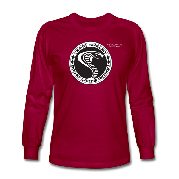 Personalized Team Shelby Circle Long Sleeve T-Shirt - dark red
