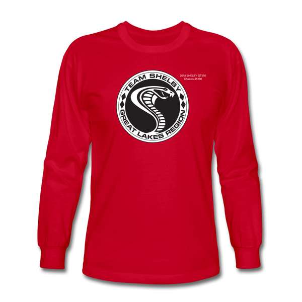 Personalized Team Shelby Circle Long Sleeve T-Shirt - red