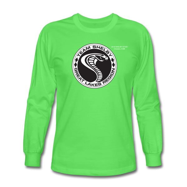 Personalized Team Shelby Circle Long Sleeve T-Shirt - kiwi