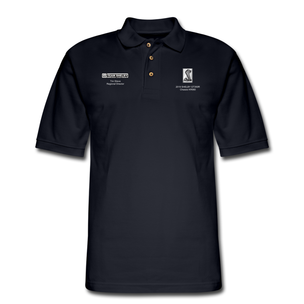 Personalized Team Shelby Pique Polo Shirt - midnight navy