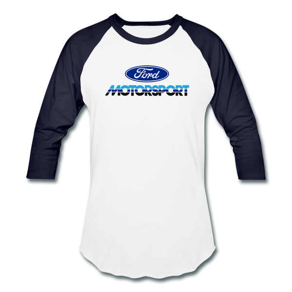 Ford Motorsport Logo 3/4 Sleeve T-Shirt - white/navy