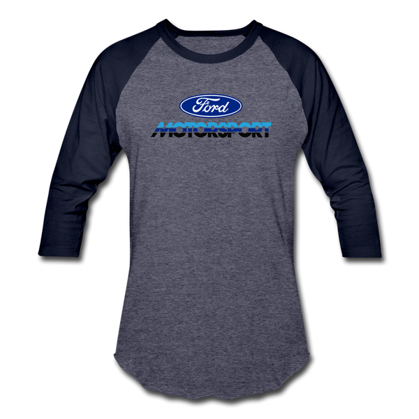 Ford Motorsport Logo 3/4 Sleeve T-Shirt - heather blue/navy