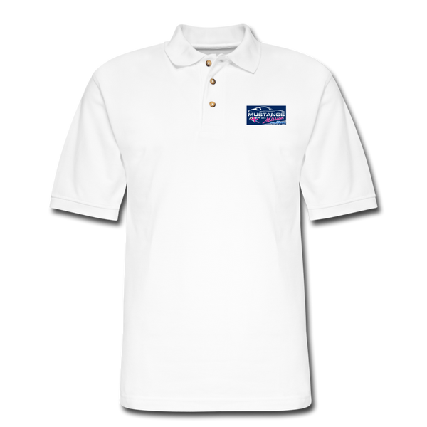 Mustangs on a Mission Experience Polo Shirt - white