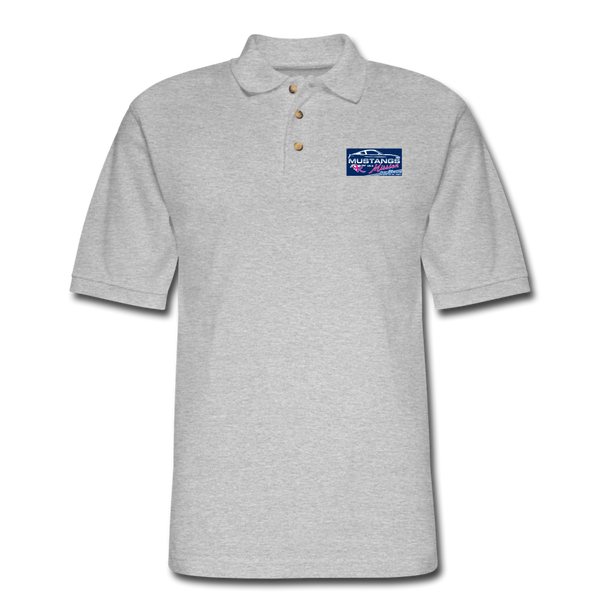 Mustangs on a Mission Experience Polo Shirt - heather gray