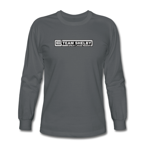 Team Shelby Racetrack Logo Long Sleeve T-Shirt - charcoal