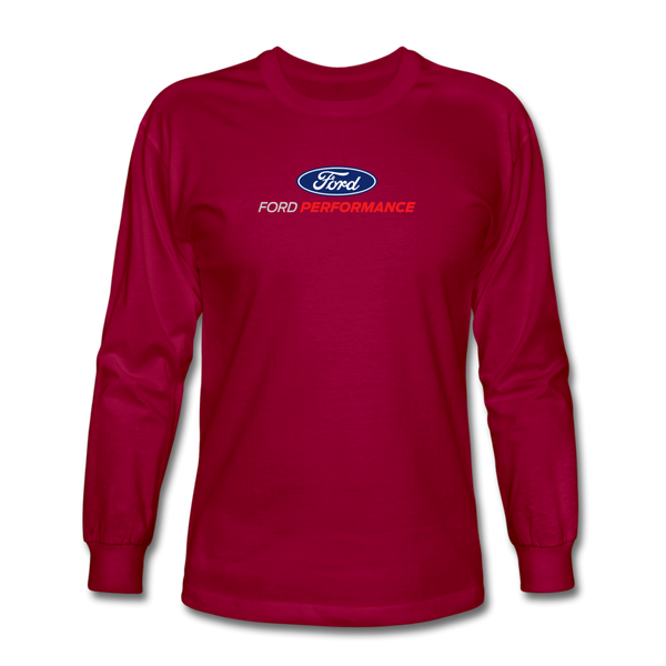 Ford Performance Long Sleeve T-Shirt - dark red