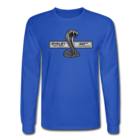 GT500 2007 40th Anniv Long Sleeve T-Shirt - royal blue