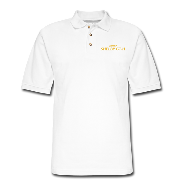 Shelby GT-H 2007 Pique Polo Shirt - white