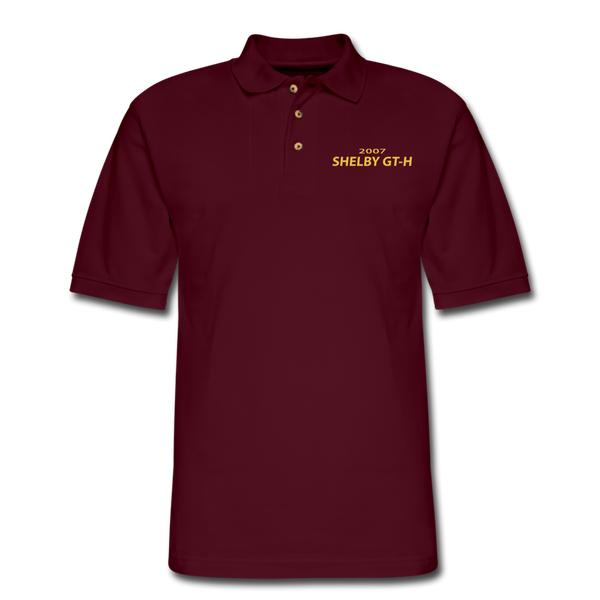 Shelby GT-H 2007 Pique Polo Shirt - burgundy