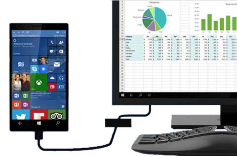 smartphone connected to Windows PC