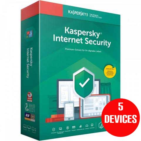 Kaspersky Internet Security 2020 5 devices 1 year Full version